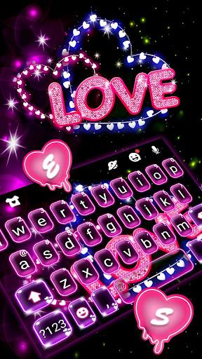 Neon Love Keyboard Theme 1.0 Screenshots 2