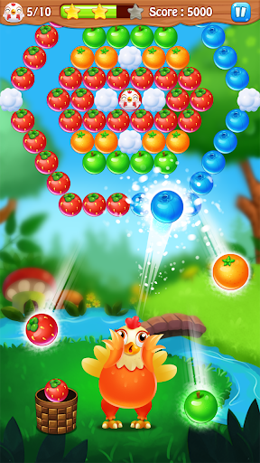 Chicken pop - Fruits bubble splash modiapk screenshots 1