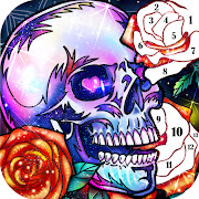 Skull Coloring Games-Free offline games for adults