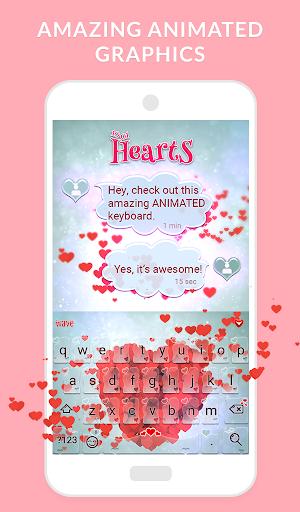 Wave Keyboard Background - Animations, Emojis, GIF 1.67.5 screenshots 1