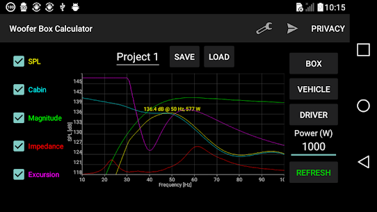 Woofer Box Calculator 8.1 Mod + Data (APK) Full 1