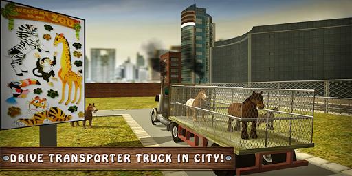 Wild Horse Zoo Transport Truck Simulator Game 2018  screenshots 1