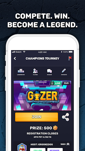 GIZER - Compete in Mobile Tournaments & Brackets  Screenshots 1