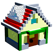 House Voxel Paint by Number - 3D Glitter Coloring