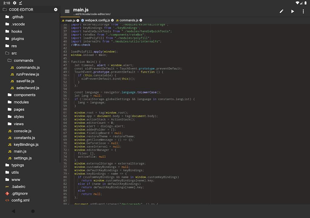 Acode - powerful code editor poster 8