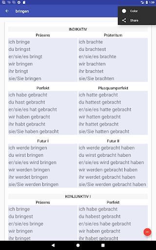 Deutsche Verben screenshots 20
