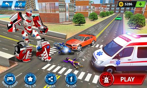 Ambulance Robot City Rescue Game apklade screenshots 1