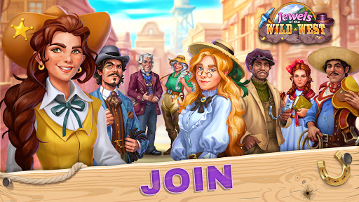 Jewels of the Wild Westu30fbMatch 3 Gems. Puzzle game  screenshots 5