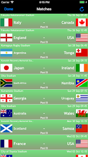 Rugby World App Japan 2019: News Teams Cup Results