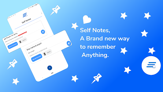 Self notes: Notes in notification bar. 1.1