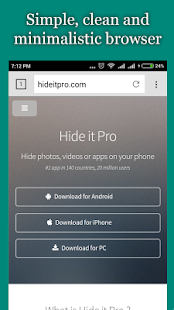 vBrowser for Hide it Pro