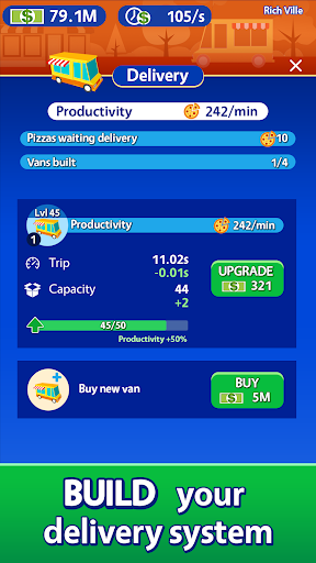 Idle Pizza Tycoon - Delivery Pizza Game 1.2.4 screenshots 4