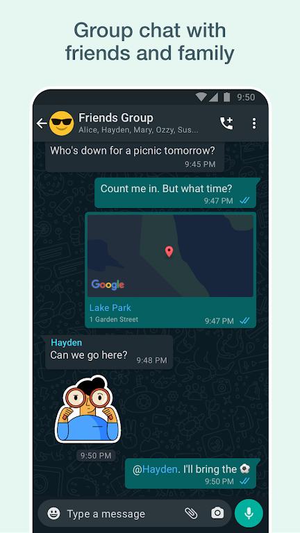 WhatsApp Messenger  poster 3