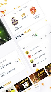 Official Peshawar Zalmi PSL Live Cricket Streaming Screenshot