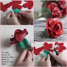 花ペーパークラフトチュートリアルのおすすめ画像5