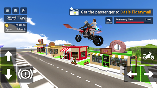 Flying Motorbike Simulator android2mod screenshots 5