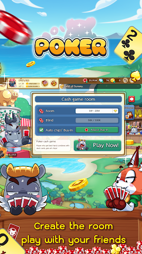 Dummy & Toon Poker Texas slot Online Card Game  Screenshots 5