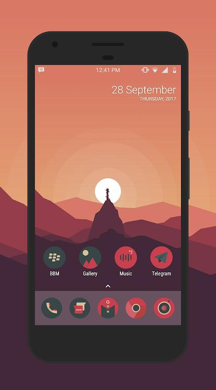 Sagon Circle Icon Pack: Dark UI  poster 0