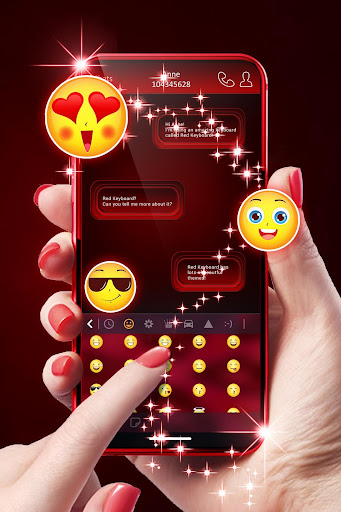 Red Keyboard For Android 1.288.1.33 screenshots 2