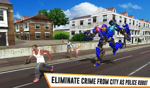 US Police Car Real Robot Transform: Robot Car Game android2mod screenshots 22