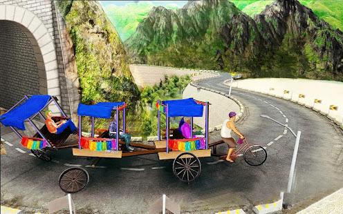 Bicycle Rickshaw Simulator 2019 : Taxi Game 4.0 Screenshots 17