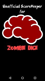 Scorekeeper for Zombie Dice