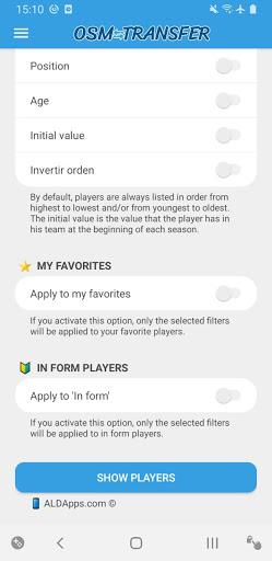 OSM Transfer: Scout list 7.1 screenshots 4