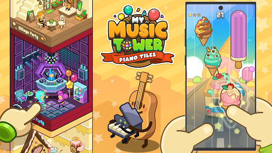 My Music Tower - Piano Tiles, Tycoon, Offline Game