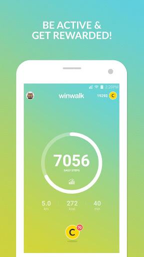Pedometer winwalk - walk, sweat & win egift cards  Screenshots 1