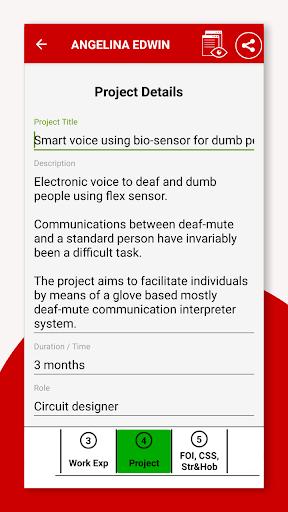 Resume Builder App Free CV Maker & PDF Templates 7.5 Screenshots 6