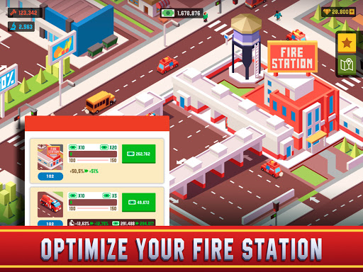 Idle Firefighter Empire Tycoon - Management Game modavailable screenshots 9