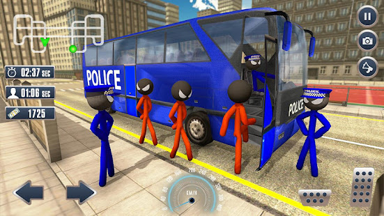Prison Stickman Transport Police Van 1.6 screenshots 2