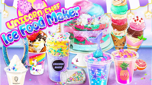 Unicorn Chef: Summer Ice Foods - Cooking Games modiapk screenshots 1