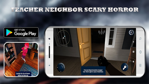 Scary Neighbor Teacher Scientist apkpoly screenshots 4
