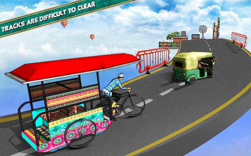 Bicycle Rickshaw Simulator 2019 : Taxi Game 4.0 Screenshots 18