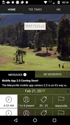 marysville golf tee times screenshot 1