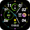 Sport analog and digital watch face