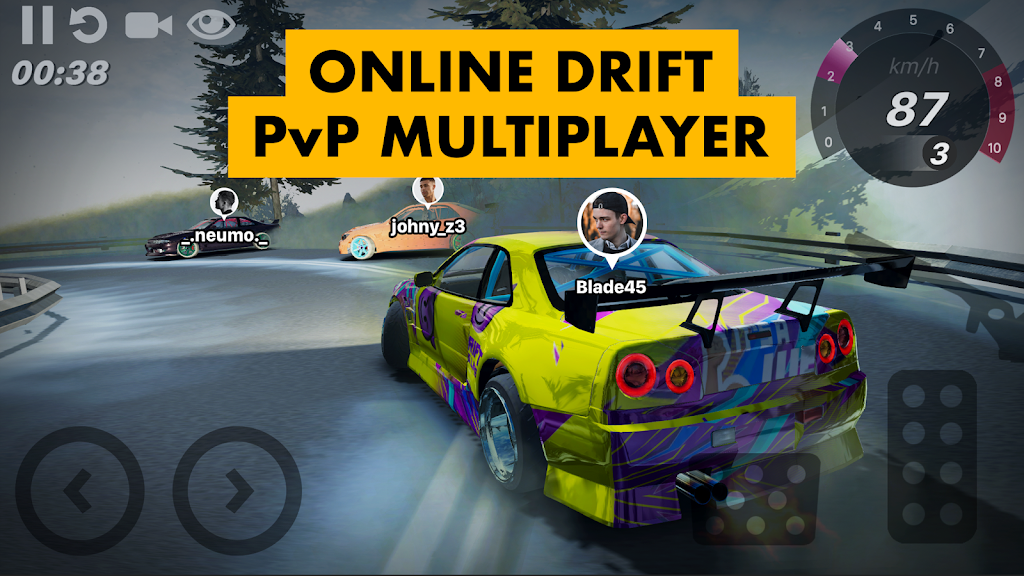 Hashiriya Drifter Online Drift Racing Multiplayer MOD poster 2