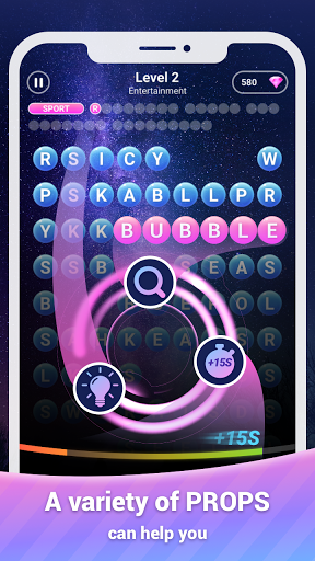 Scrolling Words Bubble - Find Words & Word Puzzle 1.0.4.106 screenshots 2