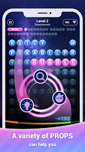 Scrolling Words Bubble - Find Words & Word Puzzle