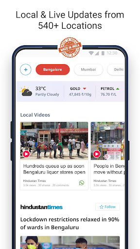 Dailyhunt - 100% Indian App for News & Videos 17.0.6 Screenshots 6