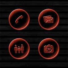 Dark Space Rusted Orange Icons Download on Windows