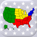 アメリカ合衆国の州:米国の首都、旗、地図に関する地理クイズ - Androidアプリ