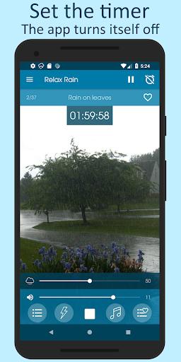 Relax Rain - Rain sounds: sleep and meditation android2mod screenshots 5