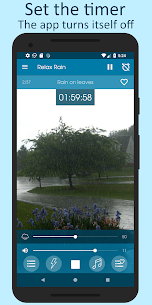 Relax Rain MOD APK- Rain sounds (Premium / Paid Unlocked) Download 5