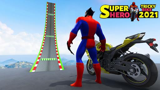 Superhero Tricky bike race (kids games) android2mod screenshots 2