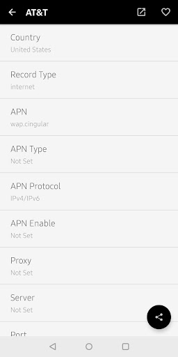 Apn Settings By Androizen Google Play United States Searchman App Data Information