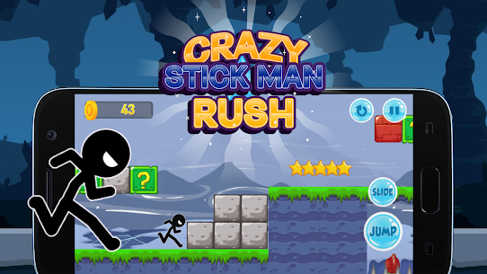 Crazy Stickman Rush Hack for iOS and Android 5