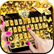 Gold Diamond Keyboard Theme
