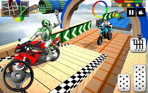 Impossible Stunts Bike Racing Games 2018: Sky Road 1.6 screenshots 4